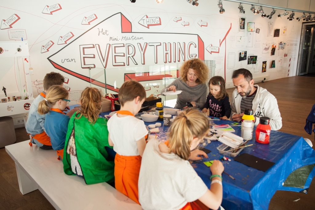 Children being creative at Kunsthal (Photo by Kunsthal)