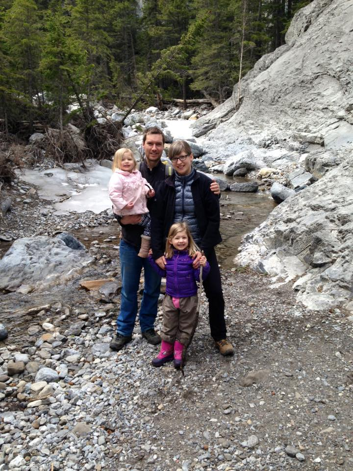 Hiking in The Rocky Mountains one hour from their new house in Calgary. Photo credits: Kerry & Arne Dankers.