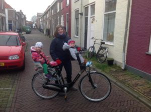 """""""In front of our house in Delft."""" Photo credits: Kerry & Arne Dankers."""
