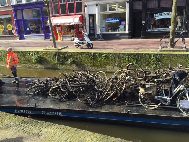 Canals being cleaned of excess bikes