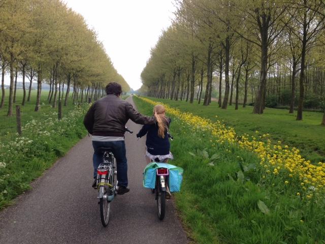 Nature cycling and enjoying fresh air