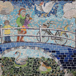 Central detail of the mosaic by Erika Brouwer Photography