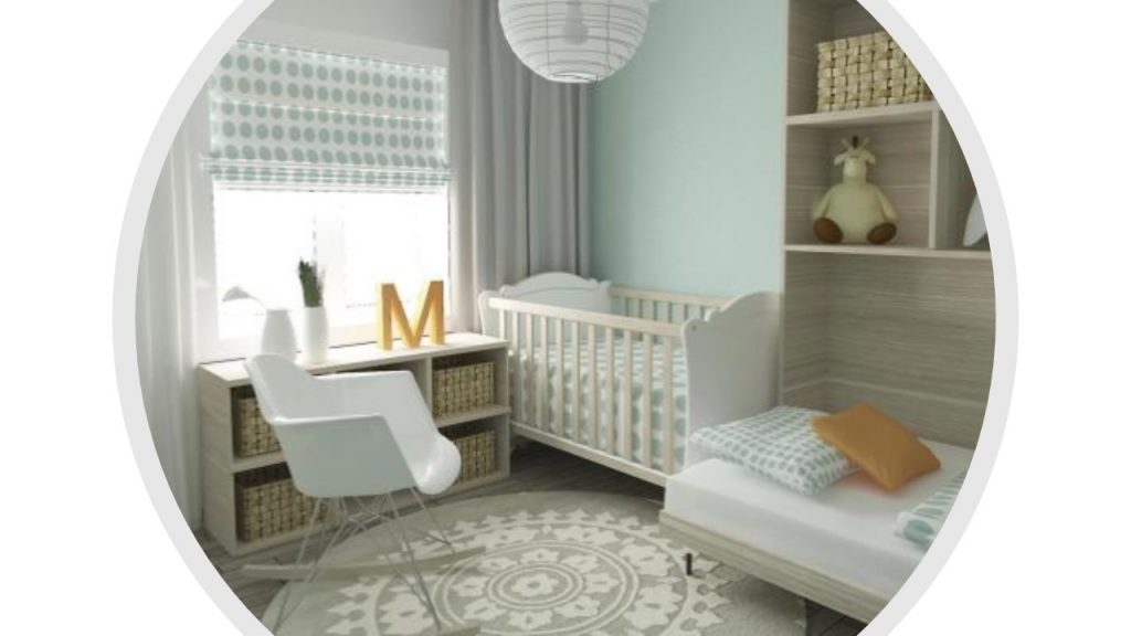 using Feng Shui principles, ideal baby room, space for bonding and relaxation, soothing colours, clutter-free room, soft colours